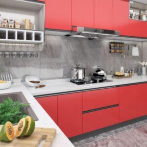 Pood24 iseliimuv mööblikile, punane, 500 x 90 cm, PVC