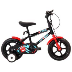 Pood24 laste jalgratas 12'', must ja punane