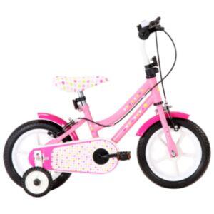 Pood24 laste jalgratas 12'', valge ja roosa