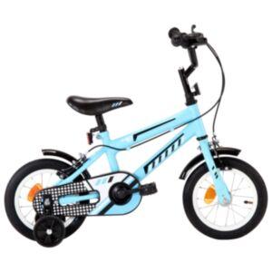 Pood24 laste jalgratas 12', must ja sinine