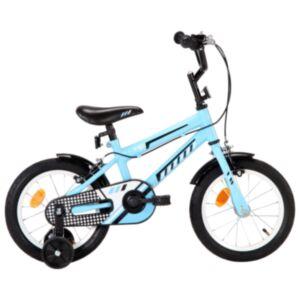 Pood24 laste jalgratas 14', must ja sinine