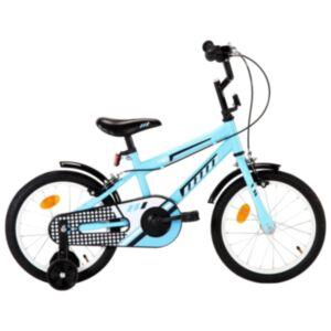 Pood24 laste jalgratas 16', must ja sinine