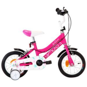 Pood24 laste jalgratas 12'', must ja roosa