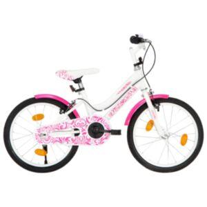 Pood24 laste jalgratas 18', roosa ja valge