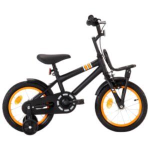 Pood24 laste jalgratas esipakiraamiga, 14'', must ja oranž