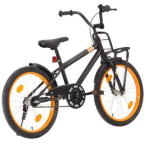 Pood24 laste jalgratas esipakiraamiga, 20', must ja oranž