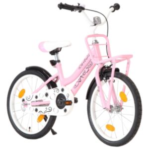 Pood24 laste jalgratas esipakiraamiga, 18'', roosa ja must