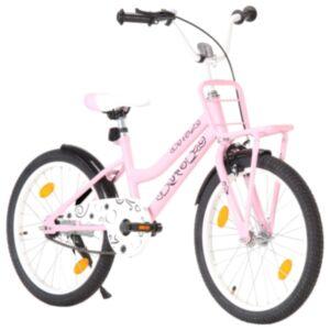 Pood24 laste jalgratas esipakiraamiga, 20'', roosa ja must