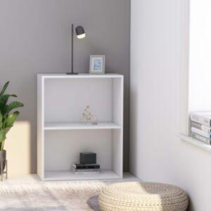 Pood24 2-korruseline raamaturiiul valge 60x30x76,5 cm puitlaastplaat
