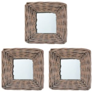 Pood24 peeglid 3 tk, 15 x 15 cm, vitsad