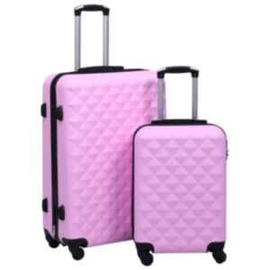Pood24 kõvakattega kohver 2 tk roosa ABS