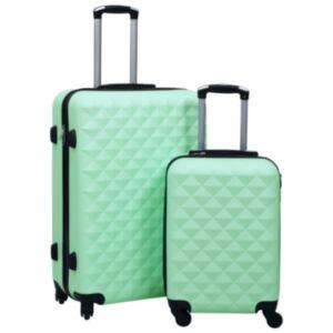 Pood24 kõvakattega kohver 2 tk mündiroheline ABS