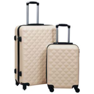 Pood24 kõvakattega kohver 2 tk kuldne ABS