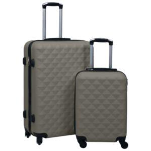 Pood24 kõvakattega kohver 2 tk antratsiithall ABS