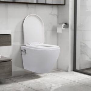 Pood24 seinale kinnitatav ääreta bideefunktsiooniga tualettpott valge