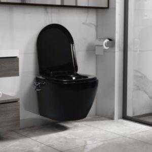 Pood24 seinale kinnitatav ääreta bideefunktsiooniga tualettpott must