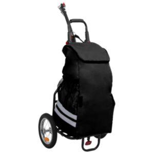 Pood24 kokkupandav jalgratta järelkäru toidukotiga, must