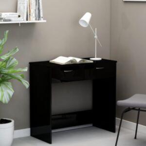 Pood24 kirjutuslaud, kõrgläikega must, 80 x 40 x 75 cm puitlaastplaat