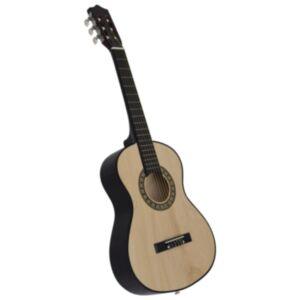 """Pood24 klassikaline kitarr algajatele ja lastele 1/2 34"""" Ameerika pärn"""