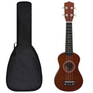 Pood24 sopran ukulele komplekt kotiga lastele tume puit 21'