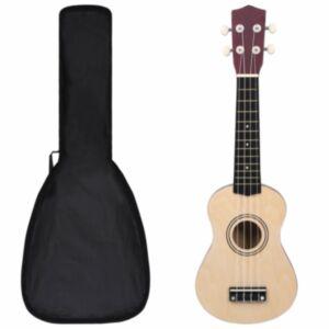 Pood24 sopran ukulele komplekt kotiga lastele hele puit 21'