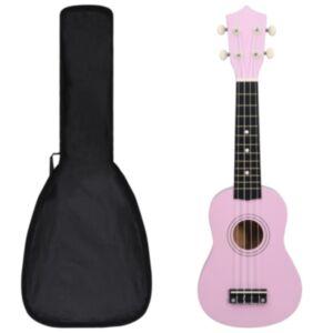 Pood24 sopran ukulele komplekt kotiga lastele roosa 21'