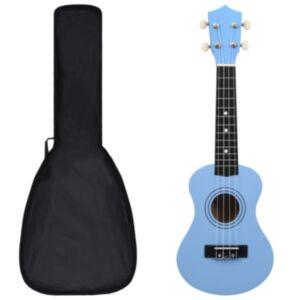 Pood24 sopran ukulele komplekt kotiga lastele sinine 21'