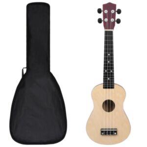 Pood24 sopran ukulele komplekt kotiga lastele hele puit 23'