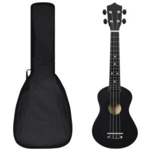 Pood24 sopran ukulele komplekt kotiga lastele must 23'