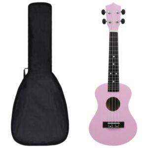 Pood24 sopran ukulele komplekt kotiga lastele roosa 23'
