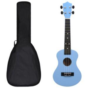 Pood24 sopran ukulele komplekt kotiga lastele sinine 23'