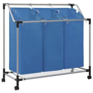 Pood24 pesusorteerija 3 kotiga, sinine, teras