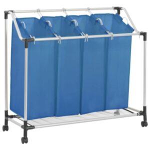 Pood24 pesusorteerija 4 kotiga, sinine, teras