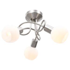 Pood24 laelamp keraamiliste varjudega 3 E14 pirni jaoks, valge kera