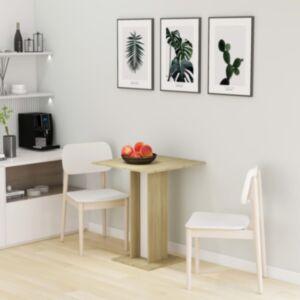 Pood24 bistroolaud, valge ja Sonoma tamm, 60x60x75 cm puitlaastplaat
