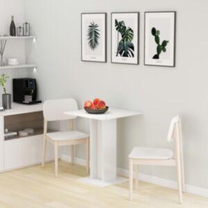 Pood24 bistroolaud, kõrgläikega, valge, 60 x 60 x 75 cm puitlaastplaat