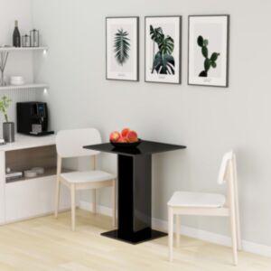 Pood24 bistroolaud, kõrgläikega, must, 60 x 60 x 75 cm puitlaastplaat