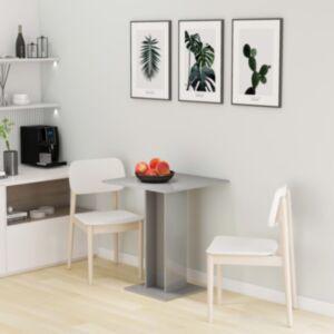 Pood24 bistroolaud, kõrgläikega, hall, 60 x 60 x 75 cm puitlaastplaat