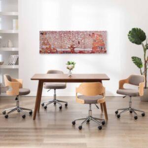 Pood24 seinamaalikomplekt lõuendil, puu, kollane, 120 x 40 cm