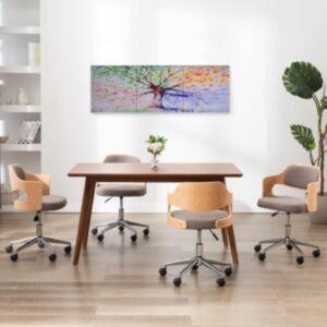 Pood24 seinamaalikomplekt lõuendil, vihmane puu, värviline 120 x 40 cm