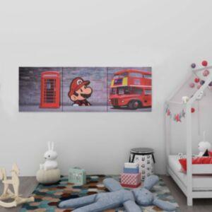 Pood24 seinamaalikomplekt lõuendil, London, värviline, 120 x 40 cm