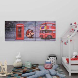 Pood24 seinamaalikomplekt lõuendil, London, värviline, 150 x 60 cm
