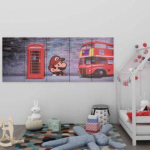 Pood24 seinamaalikomplekt lõuendil, London, värviline, 200 x 80 cm