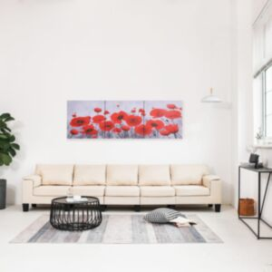 Pood24 seinamaalikomplekt lõuendil, lilled, värviline, 120 x 40 cm