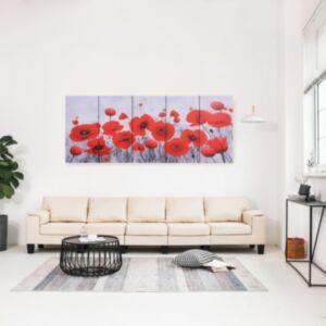 Pood24 seinamaalikomplekt lõuendil, lilled, värviline, 200 x 80 cm