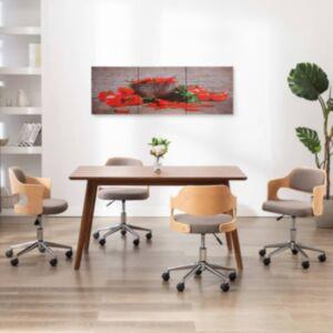 Pood24 seinamaalikomplekt lõuendil, paprika, värviline, 120 x 40 cm