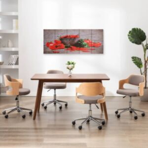 Pood24 seinamaalikomplekt lõuendil, paprika, värviline, 150 x 60 cm