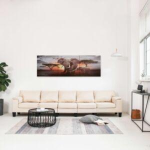 Pood24 seinamaalikomplekt lõuendil, elevant, värviline, 120 x 40 cm