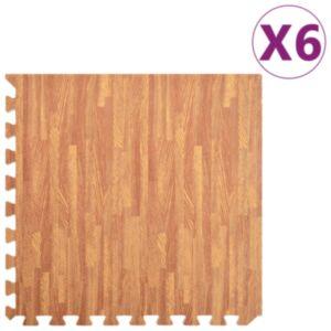 Pood24 põrandamatid 6 tk puidukiud 2,16 ㎡ EVA-vaht
