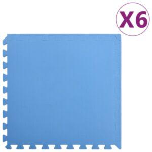 Pood24 põrandamatid 6 tk 2,16 ㎡ EVA-vaht, sinine